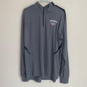 4/20$ Wisconsin Badgers quarter zip up sweater